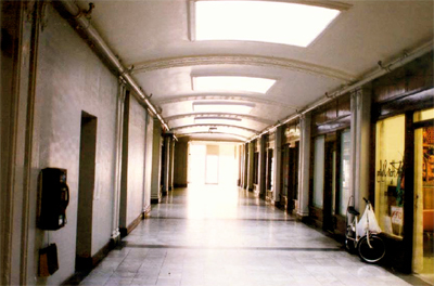 The Lister Block retail mall when it was still open to the public.