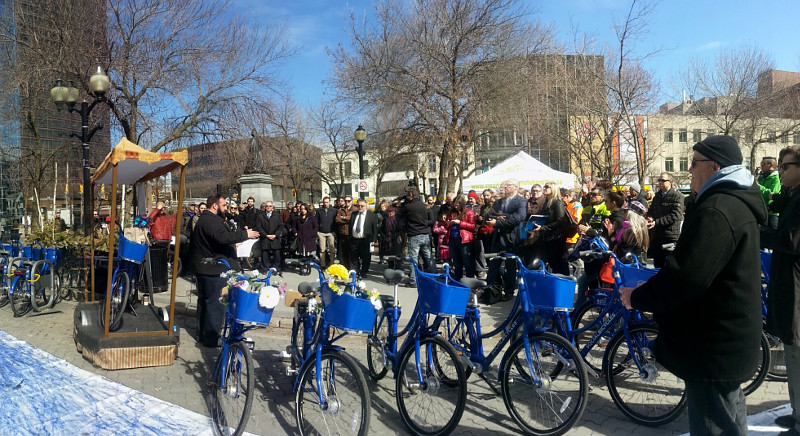Hamilton Bike Share launch ceremony