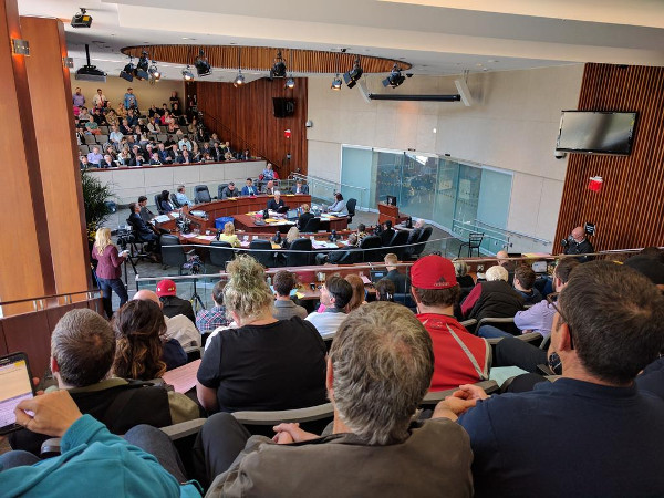 Standing room only at Hamilton City Hall for historic LRT vote