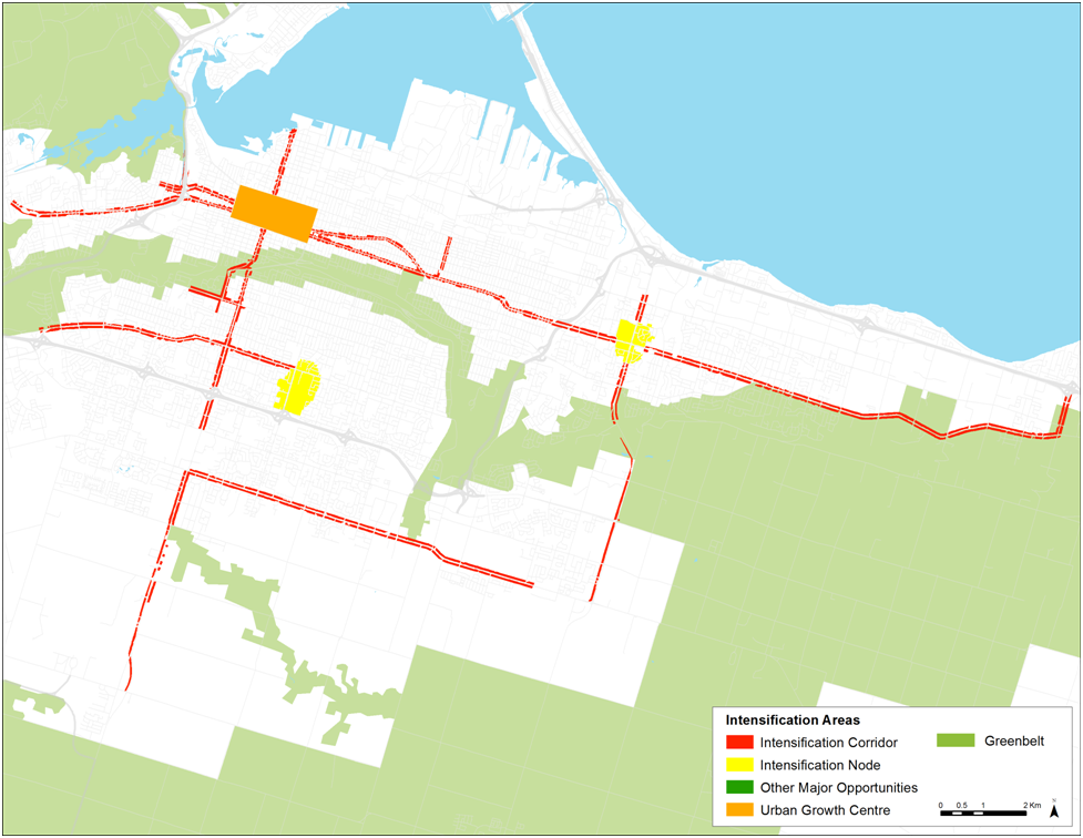 Hamilton intensification areas