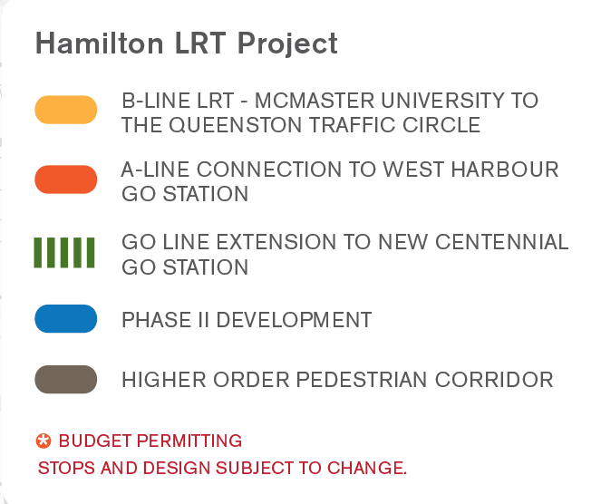 Hamilton LRT map legend
