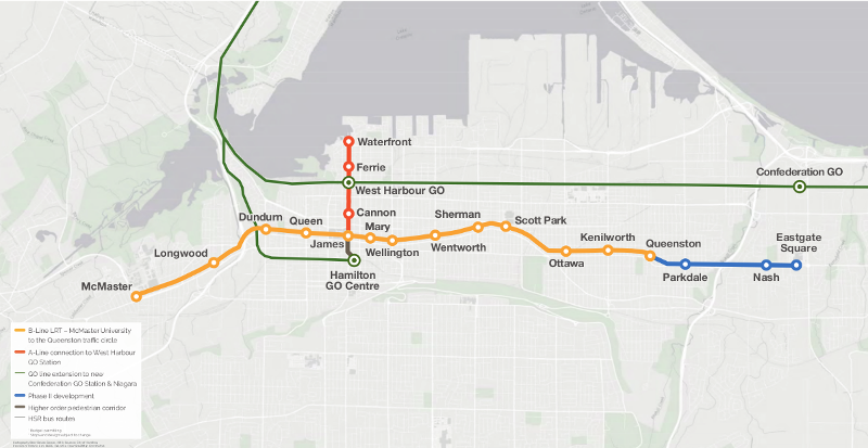 Phase 1 LRT implementation map