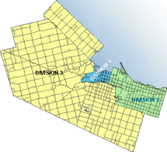 Hamilton Police Divisional Boundaries in 2015