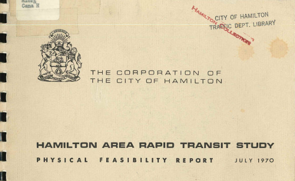Rapid Transit study from July 1970