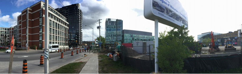 Major construction boom in downtown Kitchener (Image Credit: Mark Rejhon)