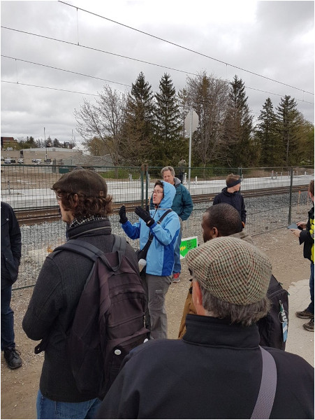 Kate Daley discusses appropriate density along LRT route (Image Credit: Damin Starr)