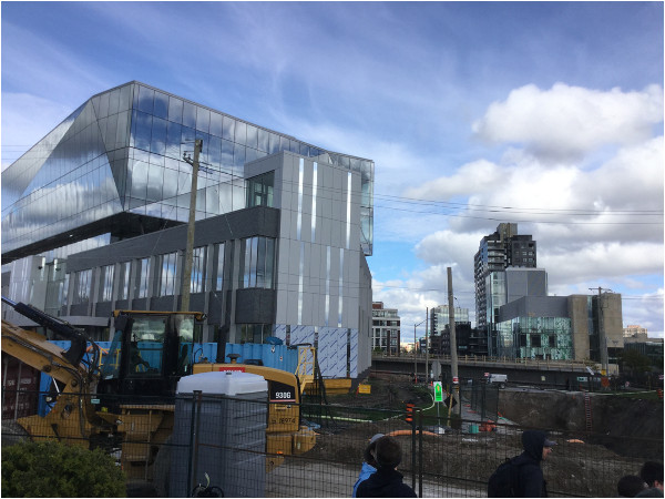 New Google Headquarters expansion being built next to LRT route (Image Credit: Mark Rejhon)