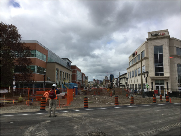 Road closures are an expected part of major construction (Image Credit: Mark Rejhon)