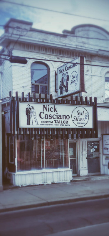 Old Nick Casciano Custom Tailor store on Barton Street