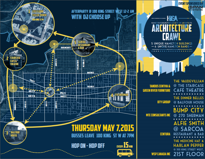 HBSA Architecture Crawl brochure. Right-click the image to download the PDF brochure