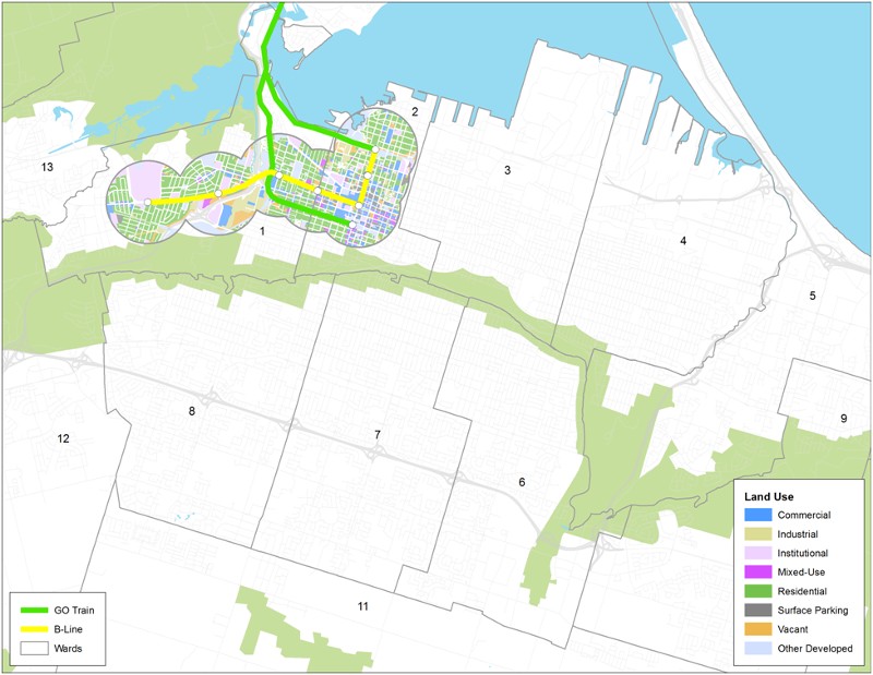 Bare-bones phased B-Line LRT