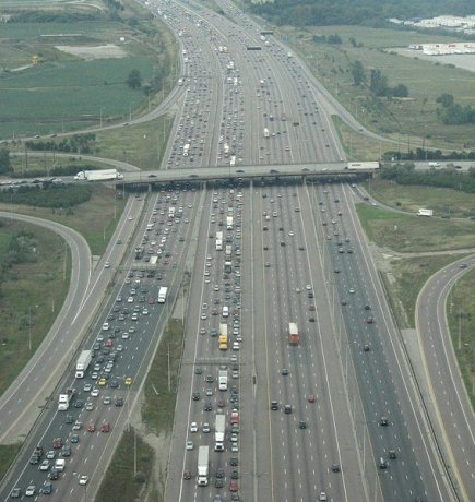 Commuting on Highway 401