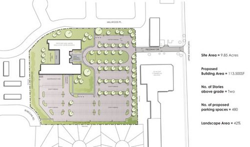 Proposed Education Centre site plan