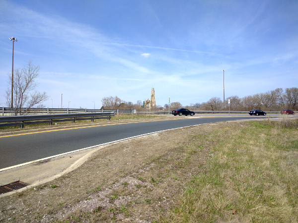 Highway 403 eastbound exit to Main Street, looking toward Main