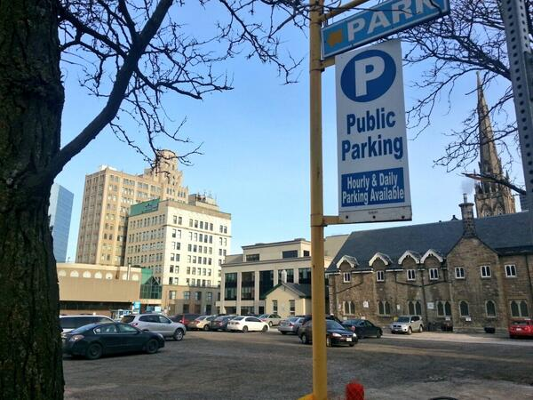 Illegal parking lot at 20 Jackson Street West