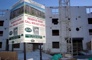 Cornerstone Condominiums are being