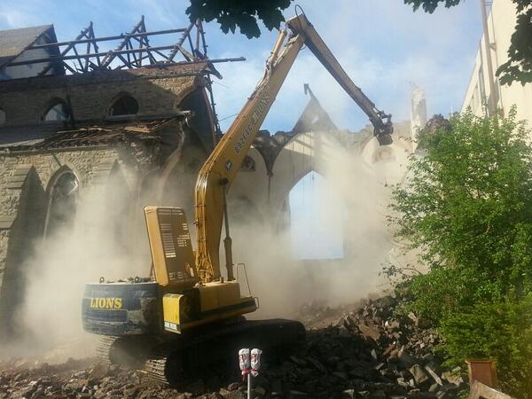 Three-quarters of James Baptist Church was demolished under a 'minor alteration' in 2014 (RTH file photo)