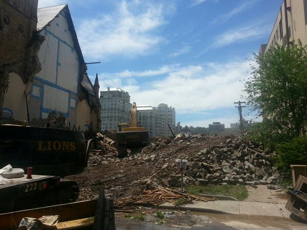 By noon, the building was pretty much gone