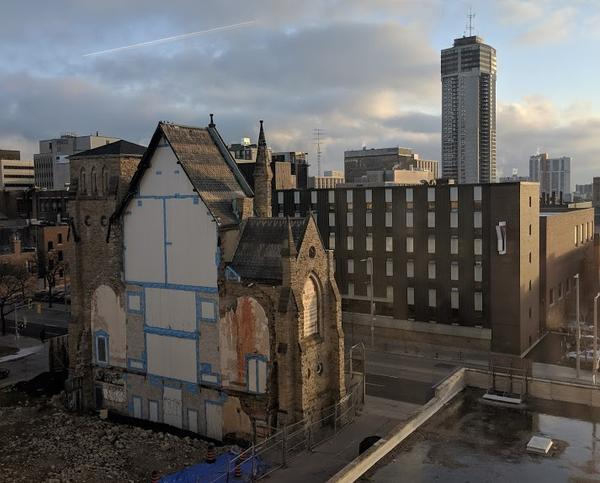 Overlooking the remains of James Baptist Church (RTH file photo)