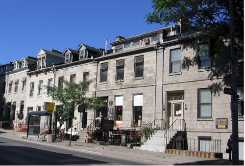 Figure 6: The James St. South stone terrace, built 1856-1860. This is only one of many such terraces built about that time from Whirlpool sandstone (in both Hamilton and Dundas).