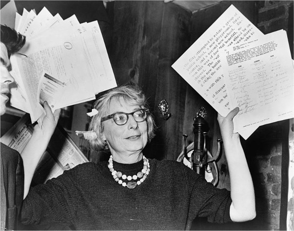 Jane Jacobs fighting to save Washington Square Park