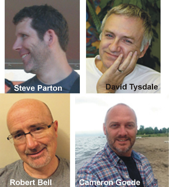 Clockwise from top left: Steve Parton, David Tysdale, Cameron Goede, Robert Bell