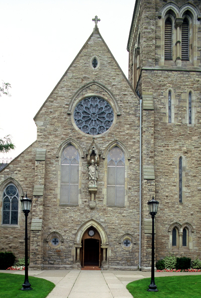 Fig. 1. Hamilton, St Patrick's Roman Catholic Church, façade, Joseph Connolly, 1875-77