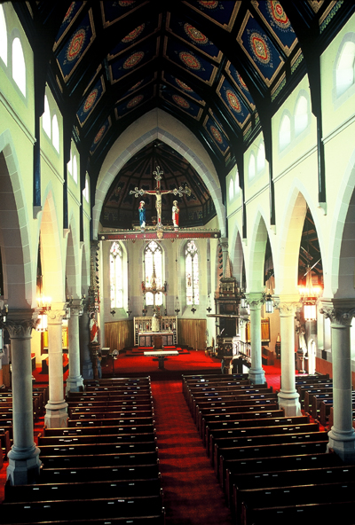 Fig. 6. Hamilton, St Patrick's Roman Catholic Church, interior.