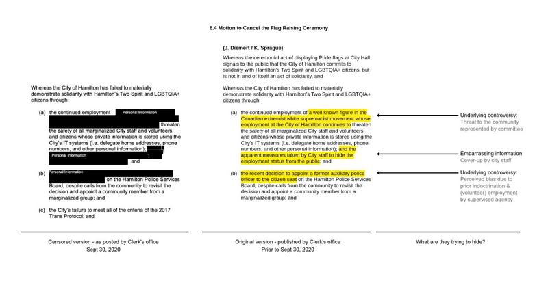Image of Kroetsch document comparing redactions (Image Credit: Martin Kuplēns-Ewart)