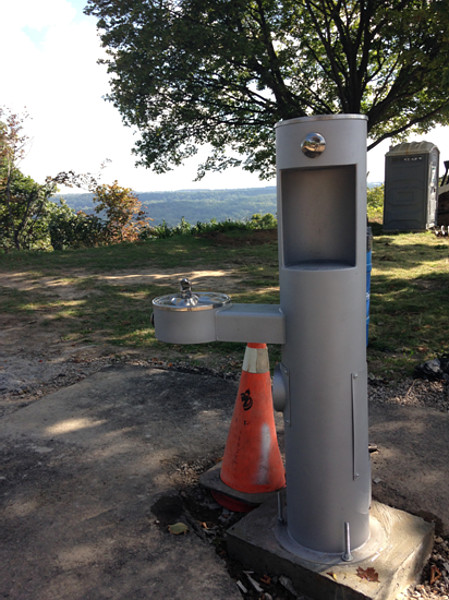 New water fountain at the top of the Mountain Brow-Margate stairs