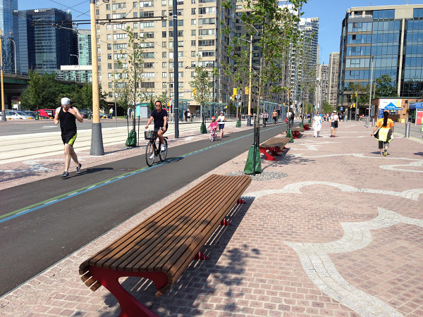 Queen's Quay bike lanes (RTH file photo)