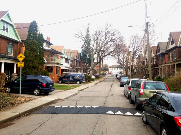 Speed humps on Strathcona