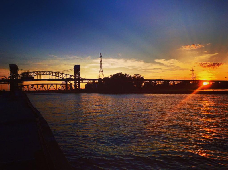 Sunset and the Lift Bridge