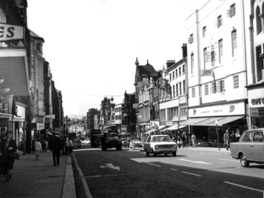 Leeds Main Street – Briggate, 1970. Leeds was a drab place to live, with no image worth marketing.