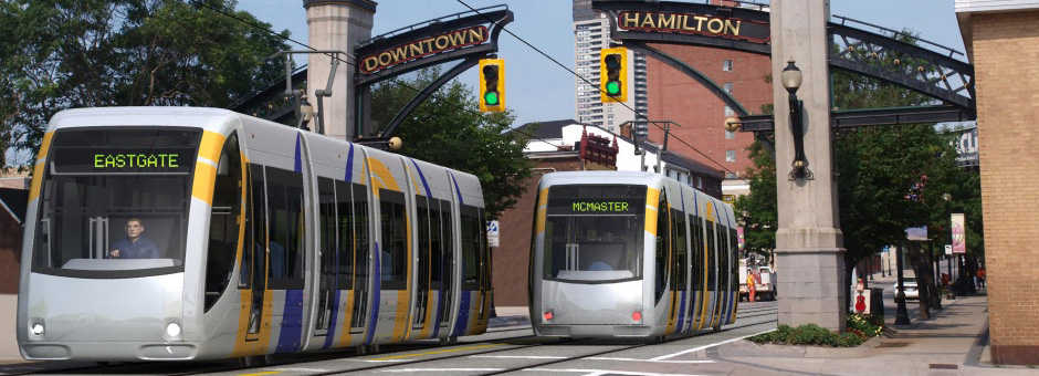 Rendering of LRT vehicle on King Street