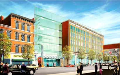 Artist's rendition of the new Lister Block