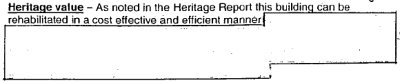 Paragraph with redacted text from the Report of the Provincial Development Facilitator on the Lister Block
