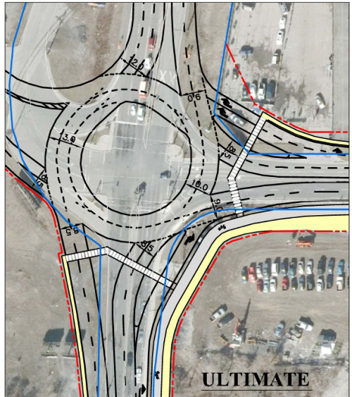 Proposed roundabout with bypass