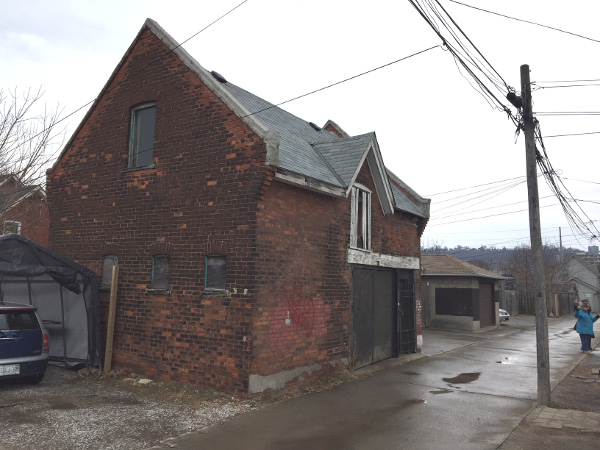 This carriage house would make a lovely conversion to laneway housing