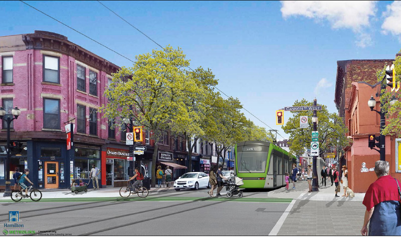 Rendering of LRT on James North