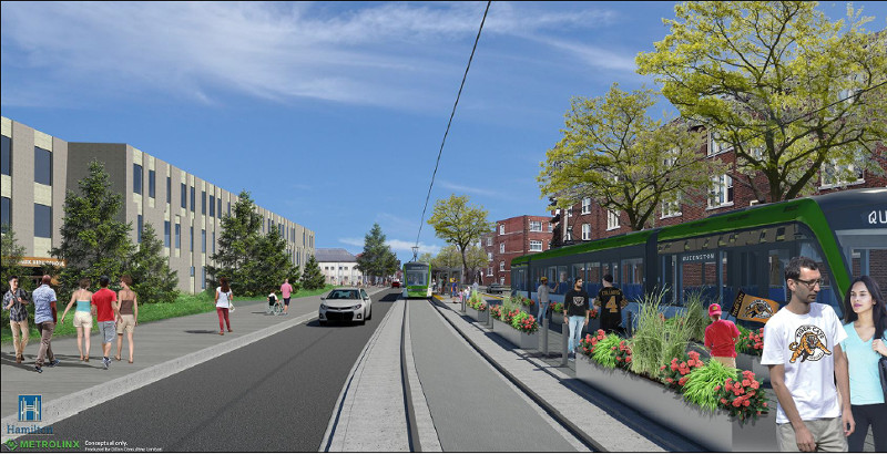 Rendering: LRT station at Scott Park (Image Credit: Metrolinx)