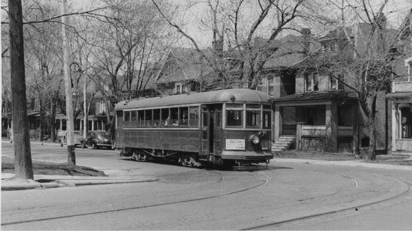 Old-fashioned Hamilton streetcar