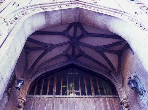 Fig. 6. Rib Vault, Main Entrance, Pigott Building.