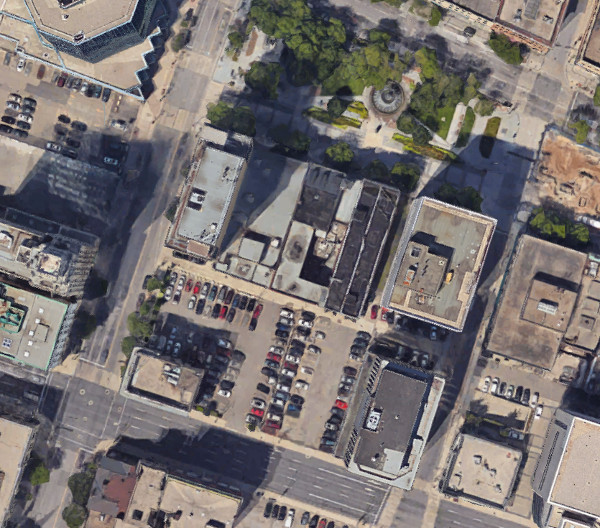 Block bounded by Main, Hughson, King and James (Image Source: Google Maps)