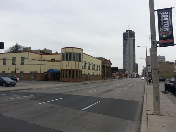Main Street, downtown Hamilton, in the middle of a weekday