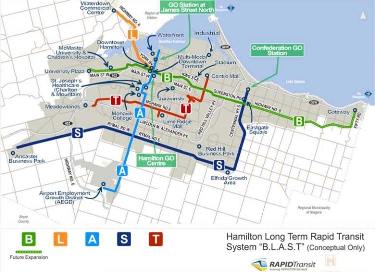 BLAST: Hamilton's Long Term Rapid Transit System