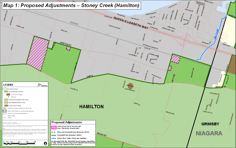 Two Hamilton areas proposed for removal from the Greenbelt