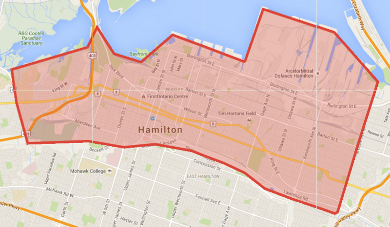 Proposed area of moratorium on any new street safety improvement measures (Image Credit: Google Maps)