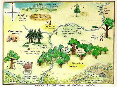 Map from The House at Pooh Corner