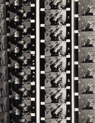 Frame Sequence by Hans Namuth; Reproduced from Pollock Painting, Agrinde Publications Ltd. New York, 1980